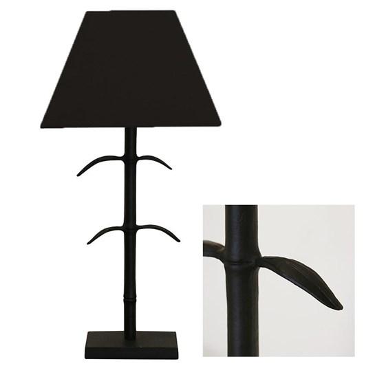 CC Interiors Le Marais Forged Leaf Lamp Matt Black With Black Shade 41cm