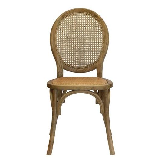 CC Interiors Elm Chair In Ash Walnut Finish
