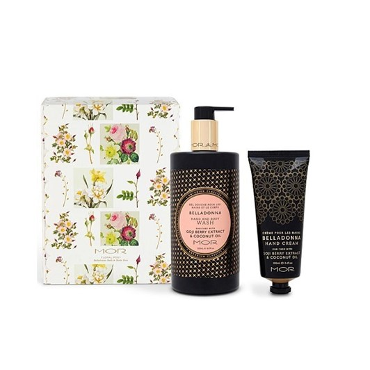 MOR Floral Posy Belladonna Hand & Body Wash & Hand Cream Gift Set
