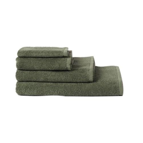 Citta Classic Organic Cotton Hand Towel Olive 45x75cm