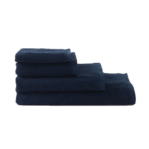 Citta Classic Organic Cotton Hand Towel Navy 45x75cm