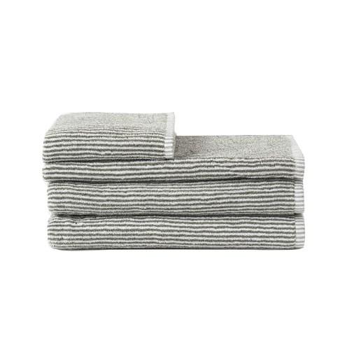 Citta Stripe Organic Cotton Face Cloth Olive/White 35x35cm