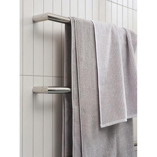 Citta Stripe Organic Cotton Hand Towel Grey/White 45x75cm