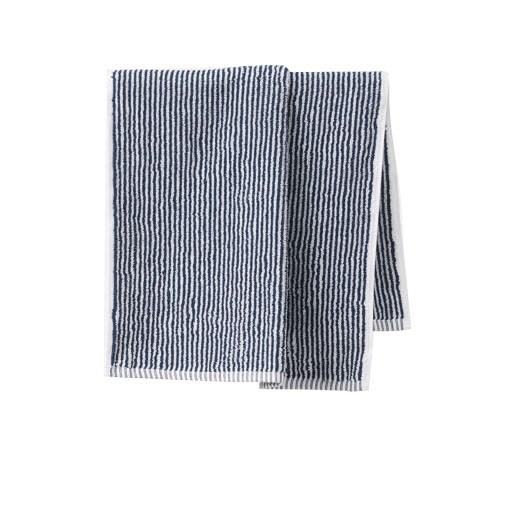 Citta Stripe Organic Cotton Hand Towel Navy/White 45x75cm