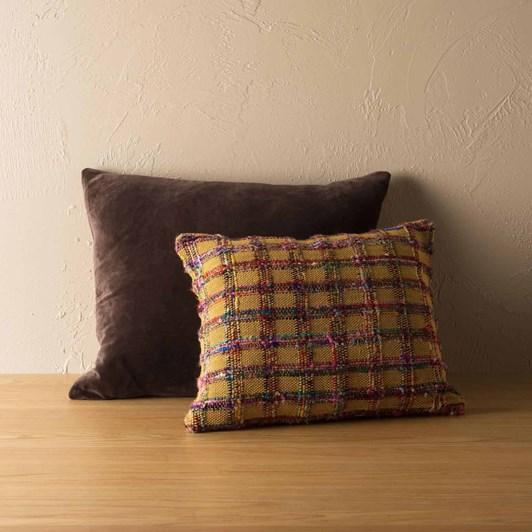 Citta Cotton Velvet Cushion Cover Henna 55x45cm