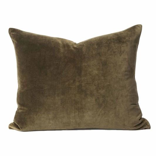 Citta Cotton Velvet Cushion Cover Ivy 55x45cm