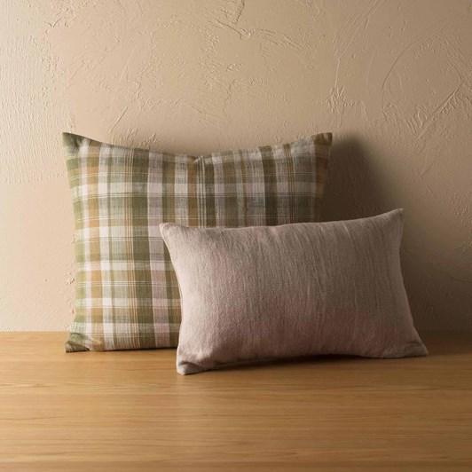 Citta Linen Cotton Cushion Cover Heather 50x30cm
