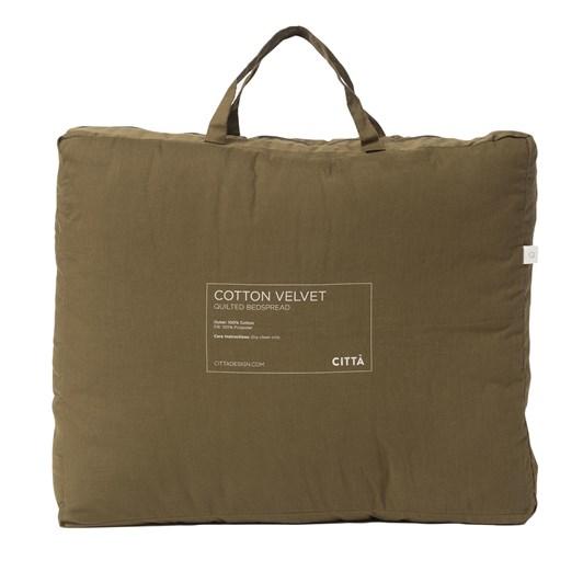 Citta Cotton Velvet Quilted Bedspread Ivy K 200x220cm
