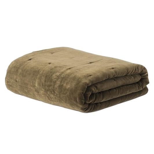 Citta Cotton Velvet Quilted Bedspread Ivy Q 180x200cm