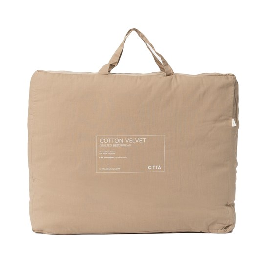 Citta Cotton Velvet Quilted Bedspread Artichoke Q 180x200cm