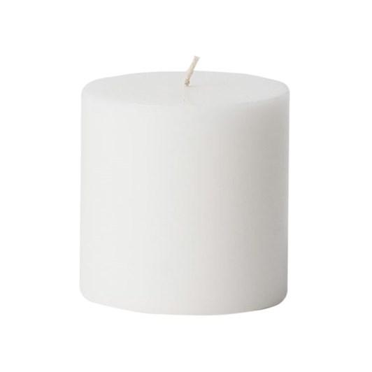 Citta Pillar Candle White S 7.5cmdiax7.5cmh