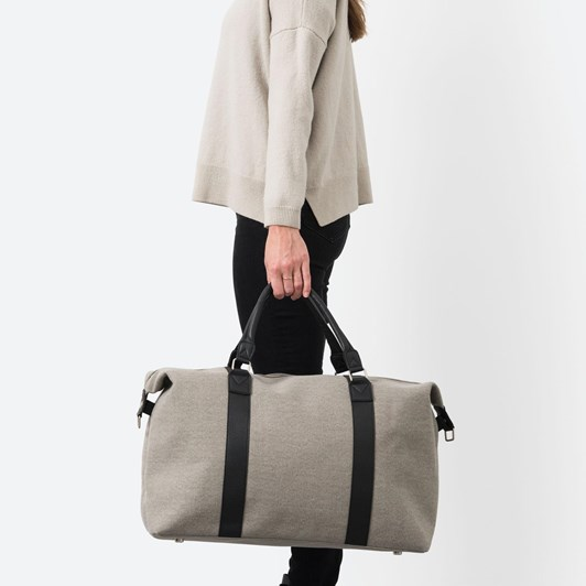 Citta Canvas Weekender Bag Grey 50x24x39cmh