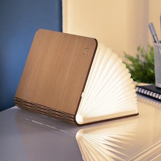 Gingko Large Smart Book Light Natural Wood