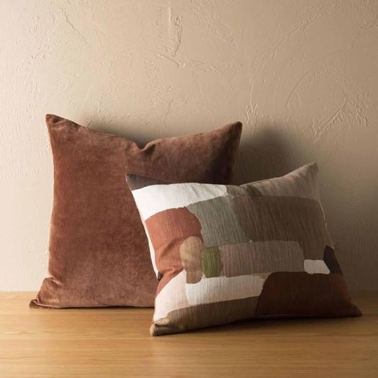Citta Pasture Cushion Cover Brick Multi  55X45Cm