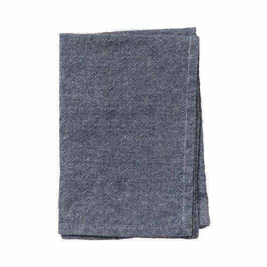 Citta Washed Cotton Tea Towel Navy  50X70Cm