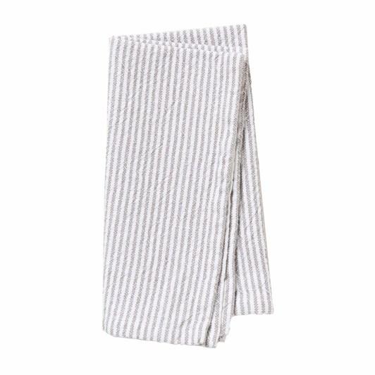 Citta Stripe Washed Cotton Napkin Grey  45X45Cm