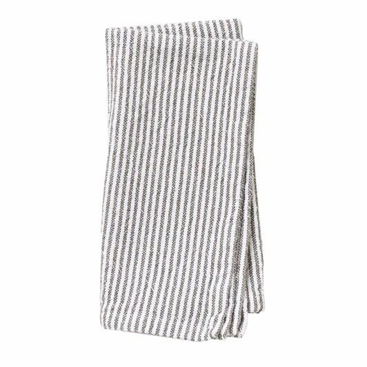 Citta Stripe Washed Cotton Napkin Olive  45X45Cm