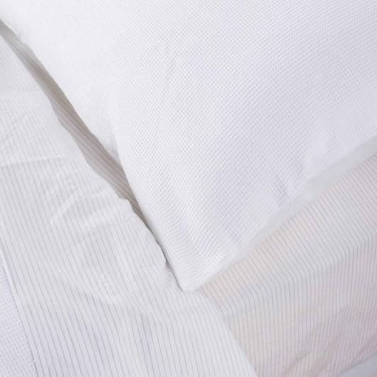 Citta Organic Cotton Mini Waffle Pillowcase Pr White  76X50Cm