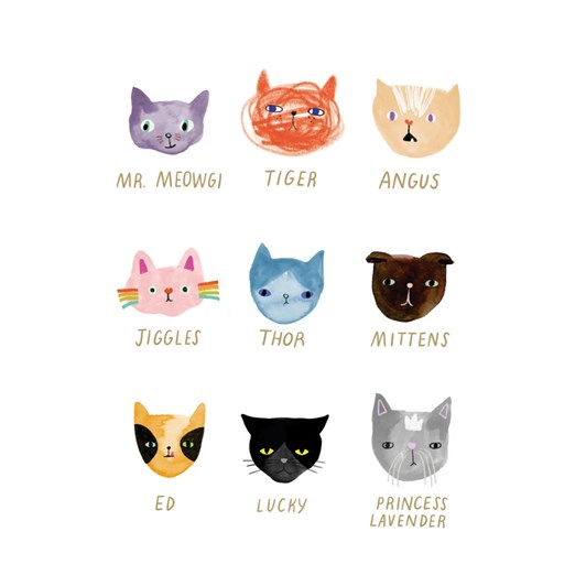 Roger La Borde Cat Faces