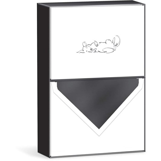 Punch Studio Reclining Dog X10 Boxed Notecards