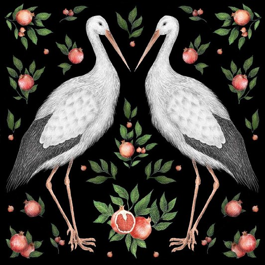 Museums & Galleries Storks Card