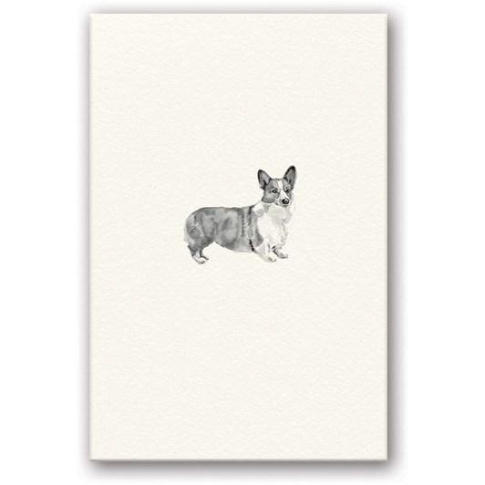 Corgi Embossed Card