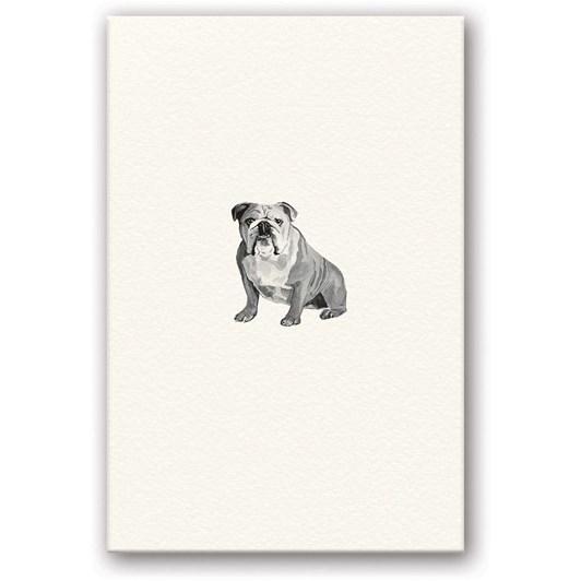 English Bulldog Embossed Card
