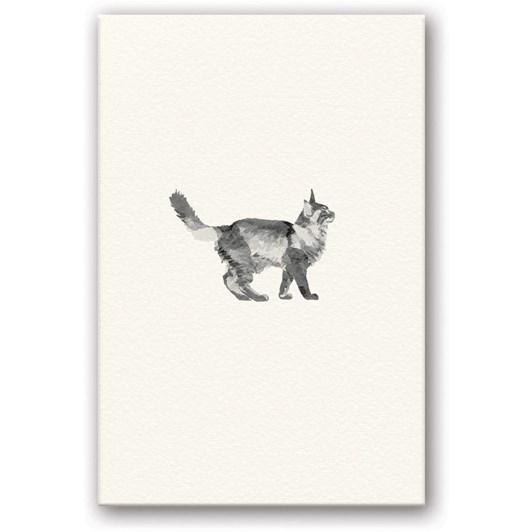 Walking Cat Embossed Card