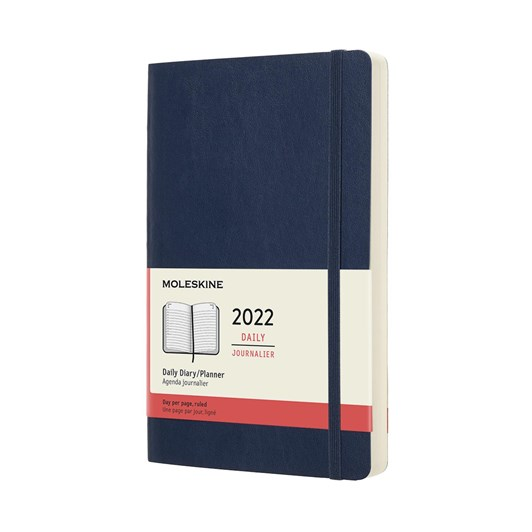 Moleskine 12 Month Daily Large Sapphire Blue Soft Cover 2022 Diary