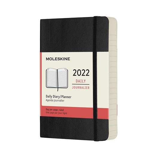 Moleskine 12 Month Daily Pocket Black Soft Cover 2022 Diary