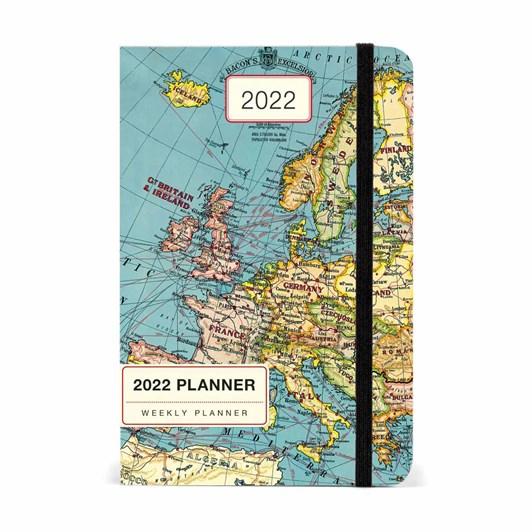 Cavallini Vintage Map 2022 Year Planner