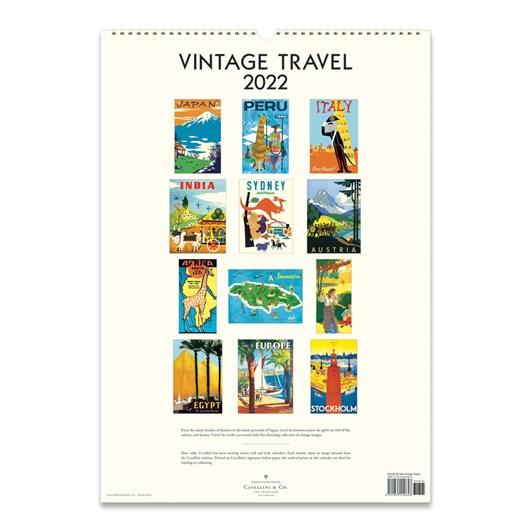 Cavallini Travel 2022 Wall Calendar