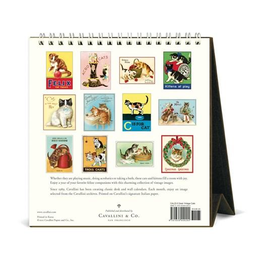 Cavallini Vintage Cats 2022 Desk Calendar