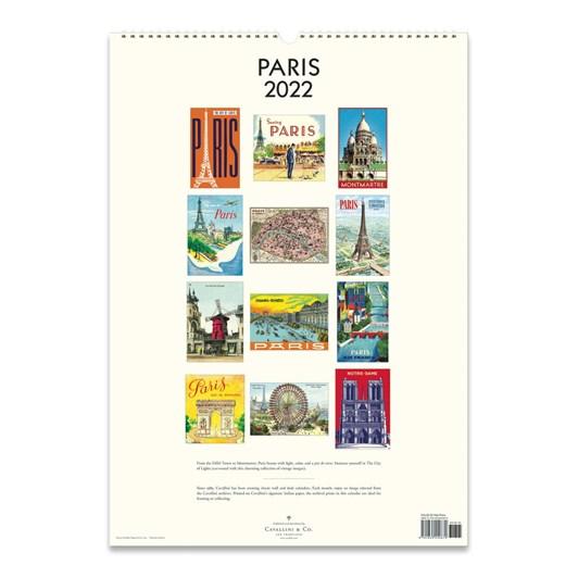 Cavallini Paris 2022 Wall Calendar