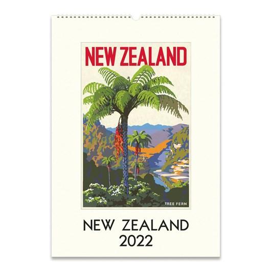 Cavallini New Zealand 2022 Wall Calendar
