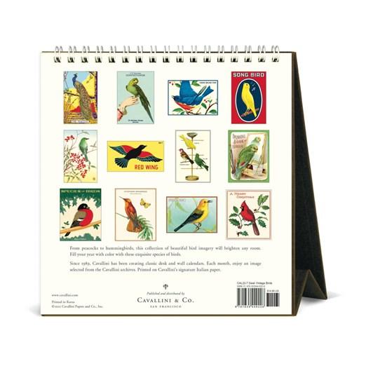 Cavallini Vintage Birds 2022 Desk Calendar