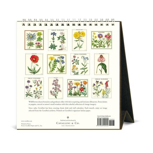 Cavallini Wildflowers 2022 Desk Calendar