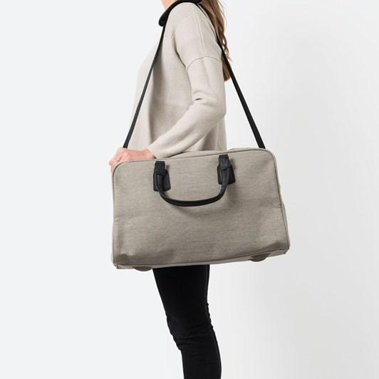 Citta Canvas Travel Bag Grey - 50x24x30cmh