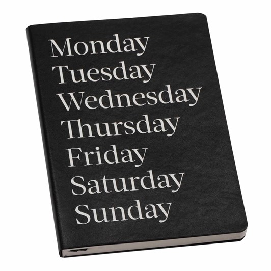 An Organised Life Monday Lined Leather Notebook
