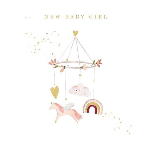 Baby Girl Mobile Card
