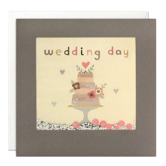 Wedding Day Cake Shakie Card