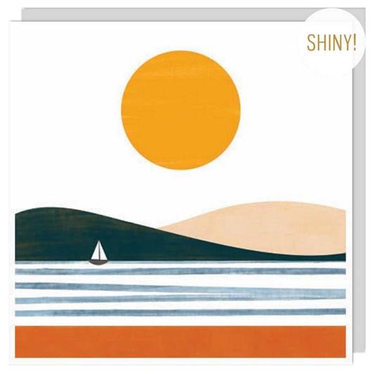 U Studio Single Yacht On The Water Card