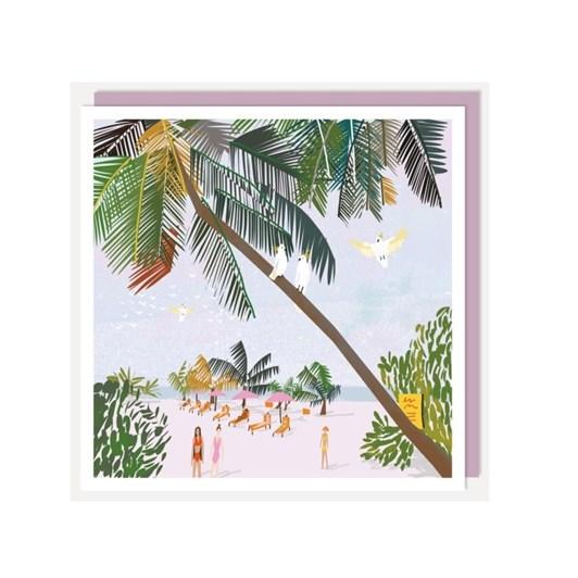 U Studio Monoprint Maldives Card