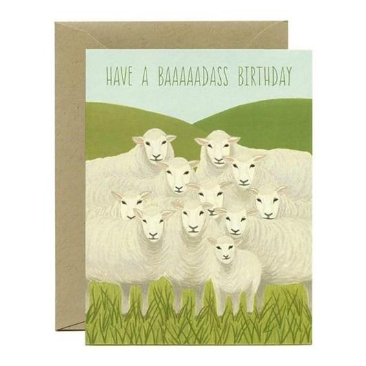 Yeppie Paper Badass Sheep Card