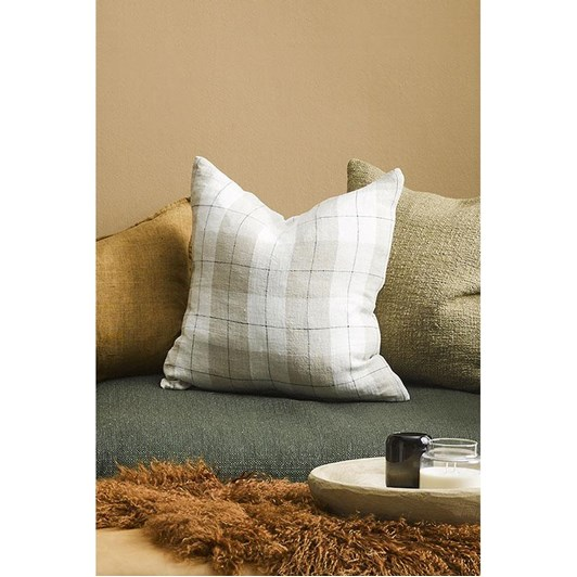 Mulberi Willis Cushion With Feather Inner 50 X 50Cm - Nougat Ivory