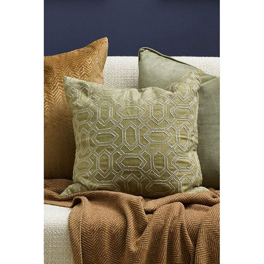 Mulberi Gustavo Cushion With Feather Inner 45 X 45Cm - Caper