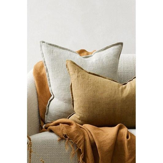 Mulberi Flaxmill Cushion With Feather Inner 50 X 50Cm - Doeskin