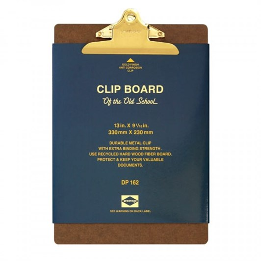 Penco Old School Clipboard A4 Gold Clip