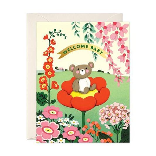 Teddy Bear Baby Foil Card