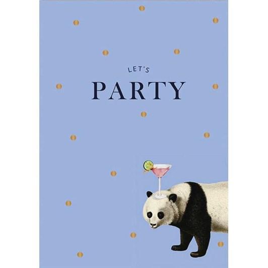 Let'S Party Panda Foil Card